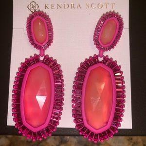 Kendra Scott Kaki Pink Earrings NWT